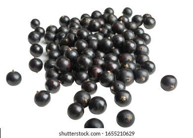 isolated berries. Black currants on white background