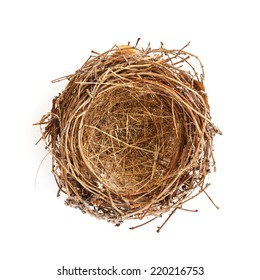 Isolated Bird Nest on White