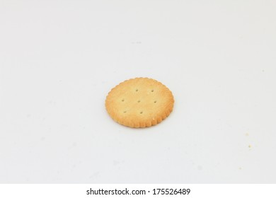 isolated biscuits on  white background