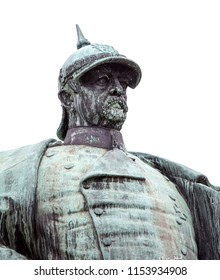 isolated Bismarck Statue Germany