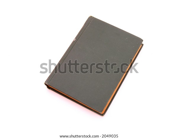 isolated black book