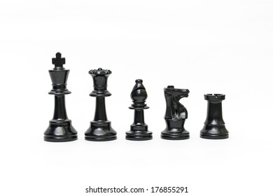 Isolated black chess figure on the white background