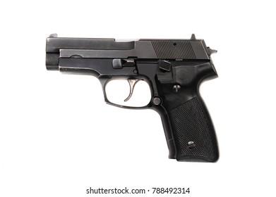 Isolated black Gun