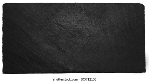 isolated black slate with chalk