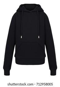 isolated black sweatshirt