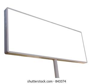 Isolated blank billboard