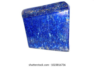 Isolated block of Lapis on a white background