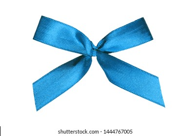 Isolated blue ribbon on white background