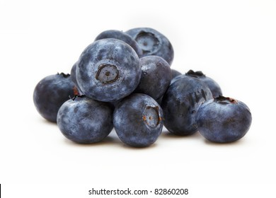 isolated blueberry on a white background