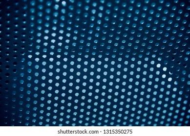 Isolated blueish metallic object unique background photo