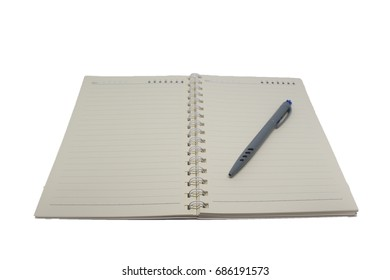 isolated book and pen