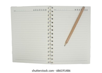 isolated book and pencil