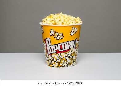 Isolated bowl of popcorn