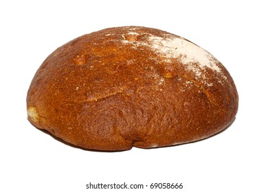 isolated bread on the white background