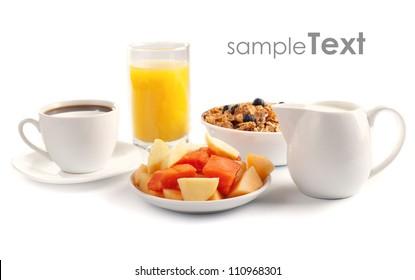 Isolated Breakfast