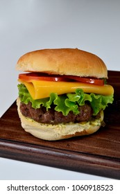 isolated burger cheese