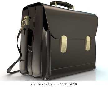 isolated business bag
