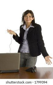isolated businesswoman on the phone
