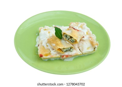 Isolated cannelloni pasta
