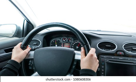 Isolated car interior background