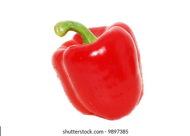 Isolated cayenne on a white background.