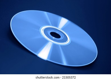 Isolated CD closeup