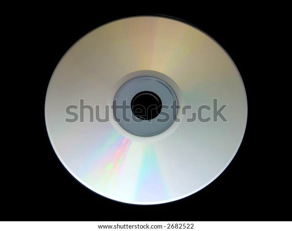 isolated CD on black background