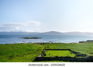Isolated cemetery near the town of Kirkjubour, Streymoy, Faroe Islands