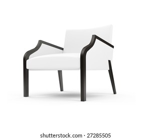 Isolated chair against white background
