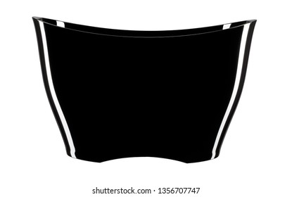 Isolated champagne bucket total black with external reflections