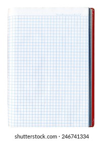 Isolated checked notepad page