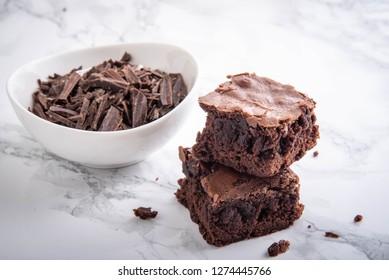isolated chocolate brownie