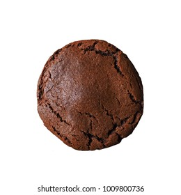 isolated chocolate cookie on white background