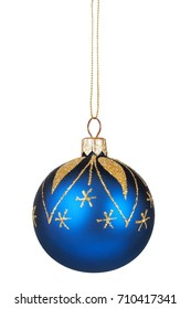 Isolated Christmas bauble on white