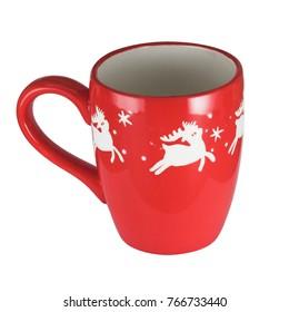 Isolated Christmas mug