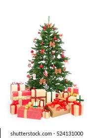 Isolated Christmas tree on white