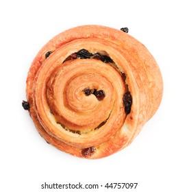 Isolated cinnamon roll