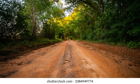Isolated Clay Road