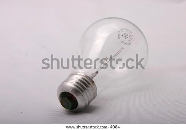 isolated clear lightbulb