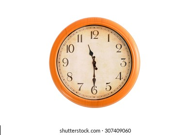 Isolated clock showing 11:30 o'clock
