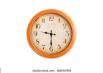 Reloj aislado que muestra las 9:30 en punto