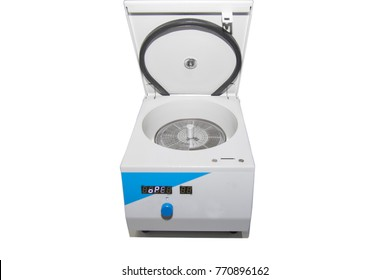 Isolated closeup view of centrifuge machine