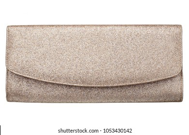 isolated clutch bag