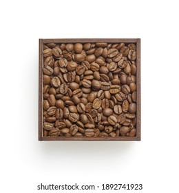 Isolated coffee beans on white background