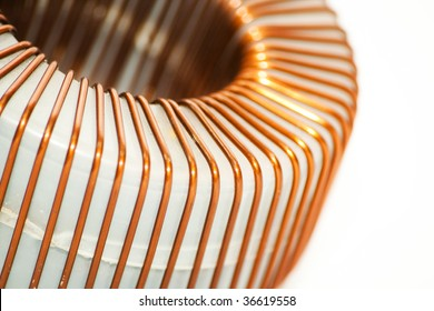 Isolated coil on white background