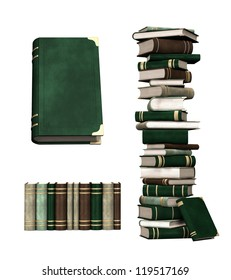 Isolated collection of books