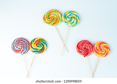 isolated colored lollipop