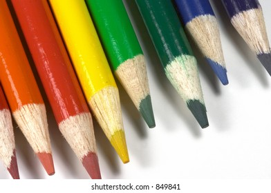 isolated colored pencils