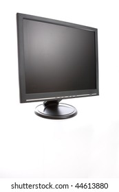 Isolated computer screen on white background.