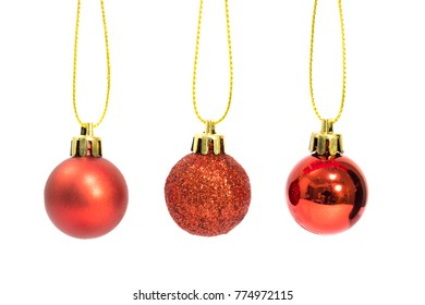 isolated cristmas red new year ball on white background